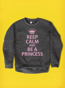 Be a princess, свитшот